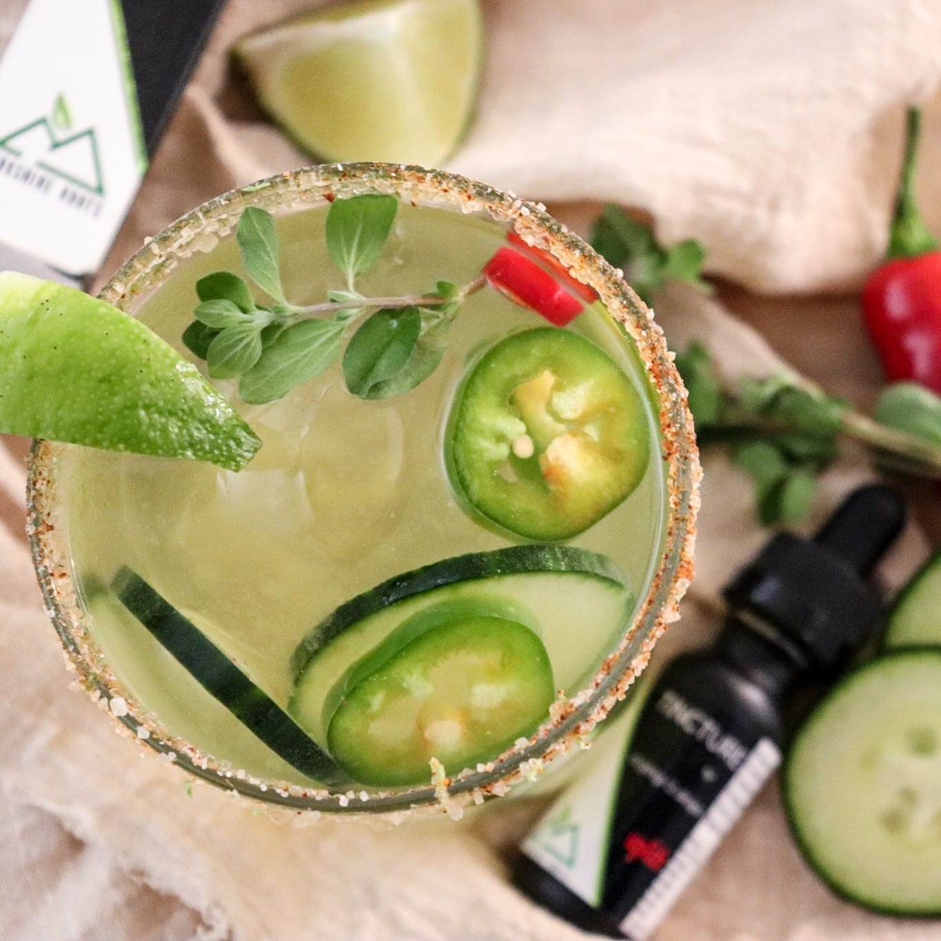 """Featured image for """"Berkshire Roots Spicy Margarita Mocktail"""""""