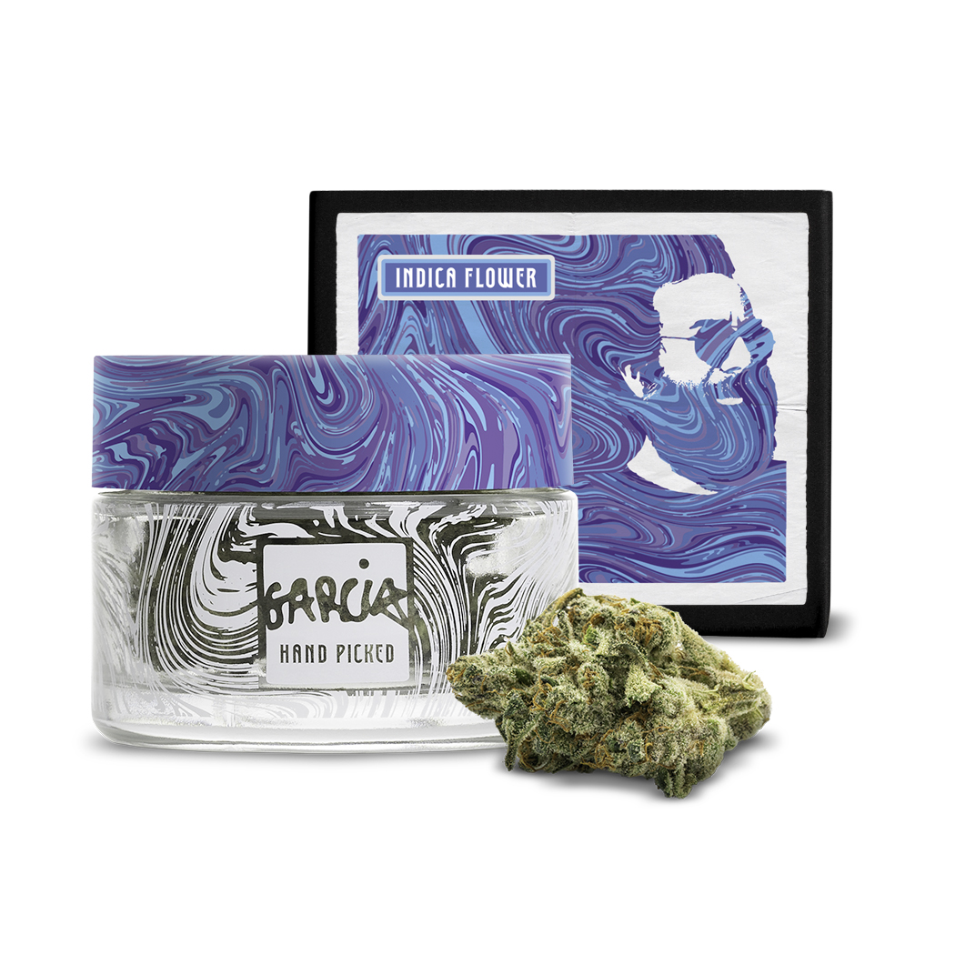 Garcia hand picked cannabis brand flower packing and glass jar
